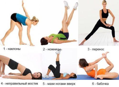 Упражнения для похудения внутренней части бедра